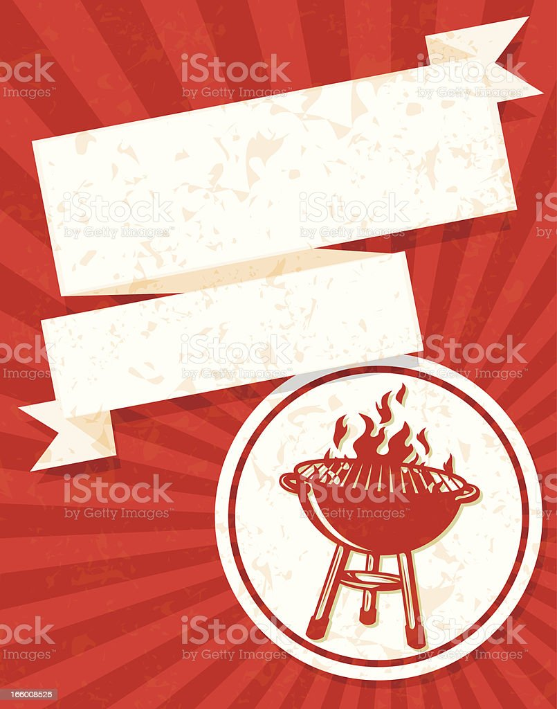 fancy bbq flyer royalty-free stock vector art