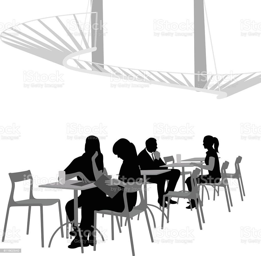 Fancy Cafe Vector Silhouette vector art illustration