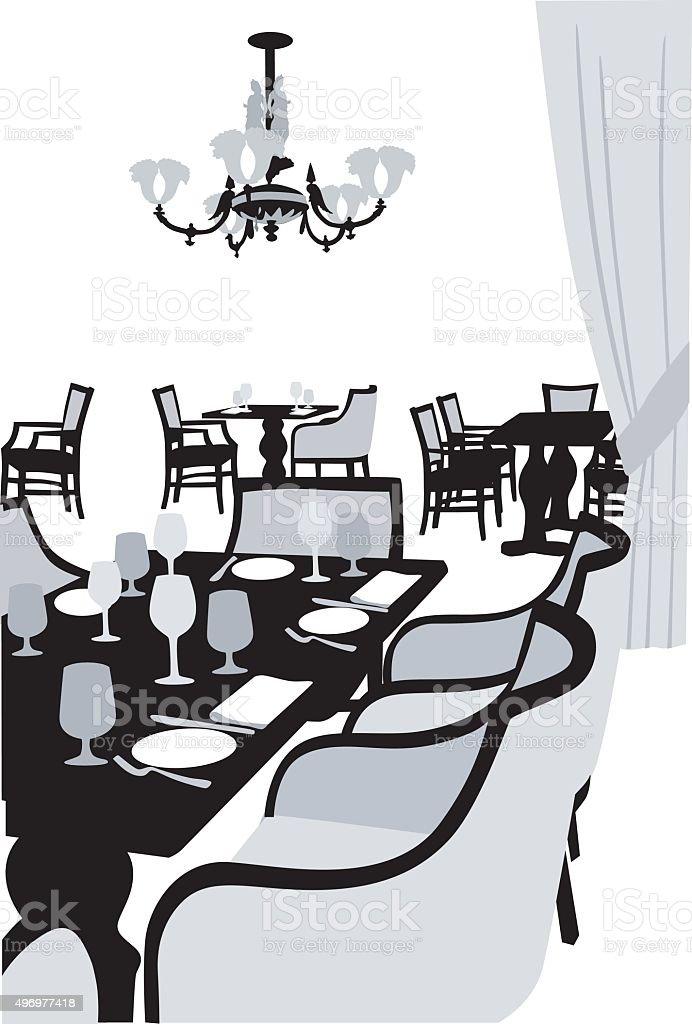 Fancy Dining vector art illustration