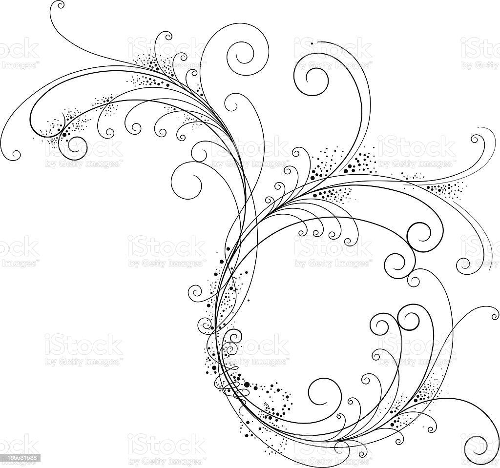 Fancy Filigree royalty-free stock vector art