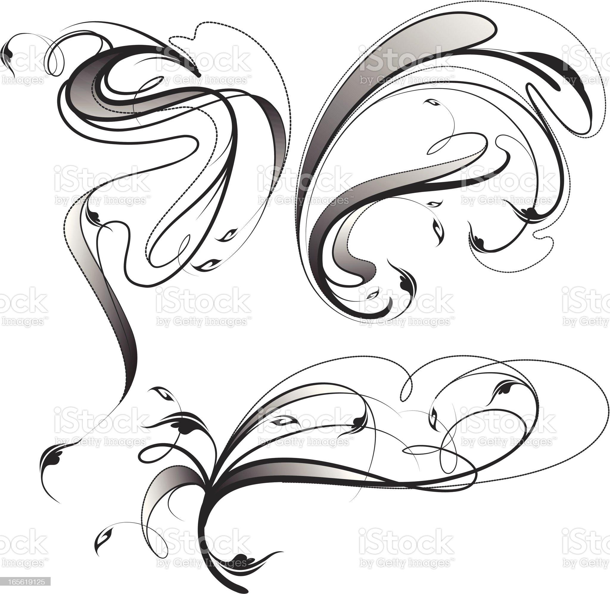 fancy flourish royalty-free stock vector art