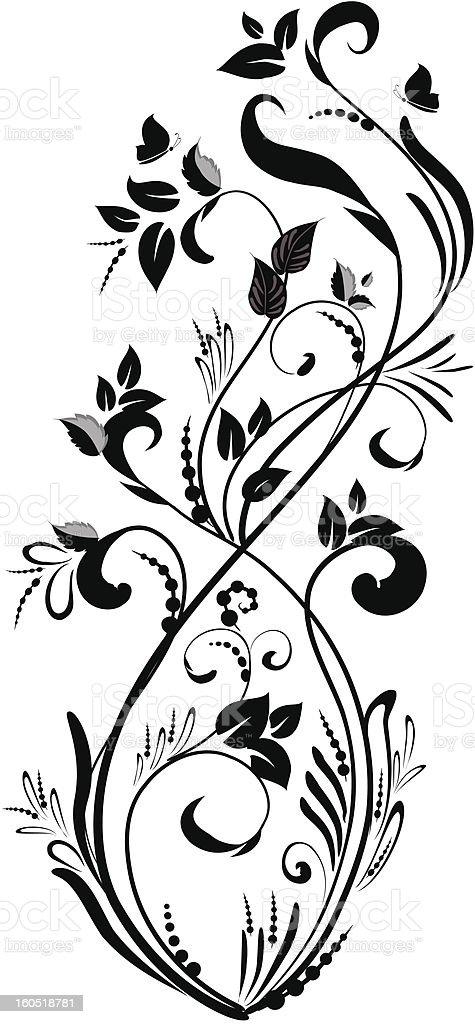 fancy foliage royalty-free stock vector art