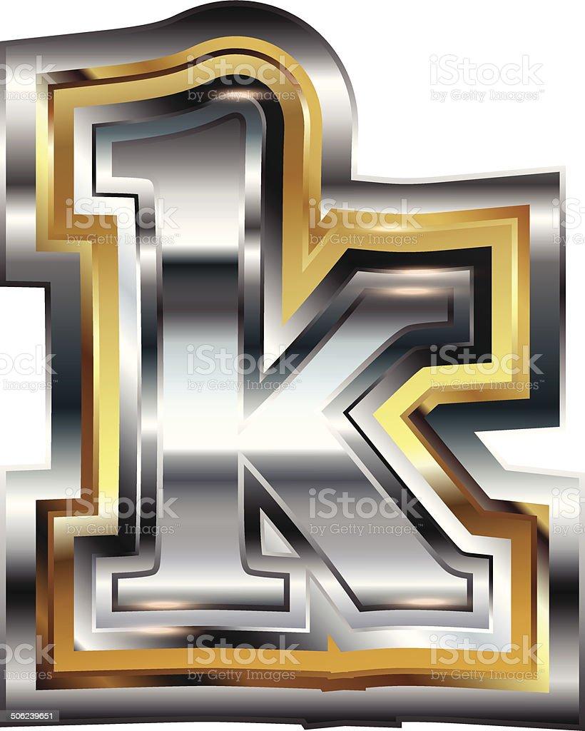 Fancy font Letter k royalty-free stock vector art