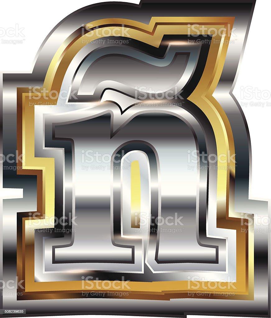 Fancy font Letter ñ royalty-free stock vector art