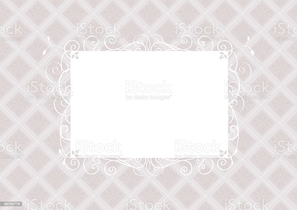 Fancy frame invitation template royalty-free stock vector art