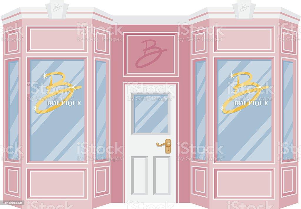 Fancy Girlie Boutique vector art illustration