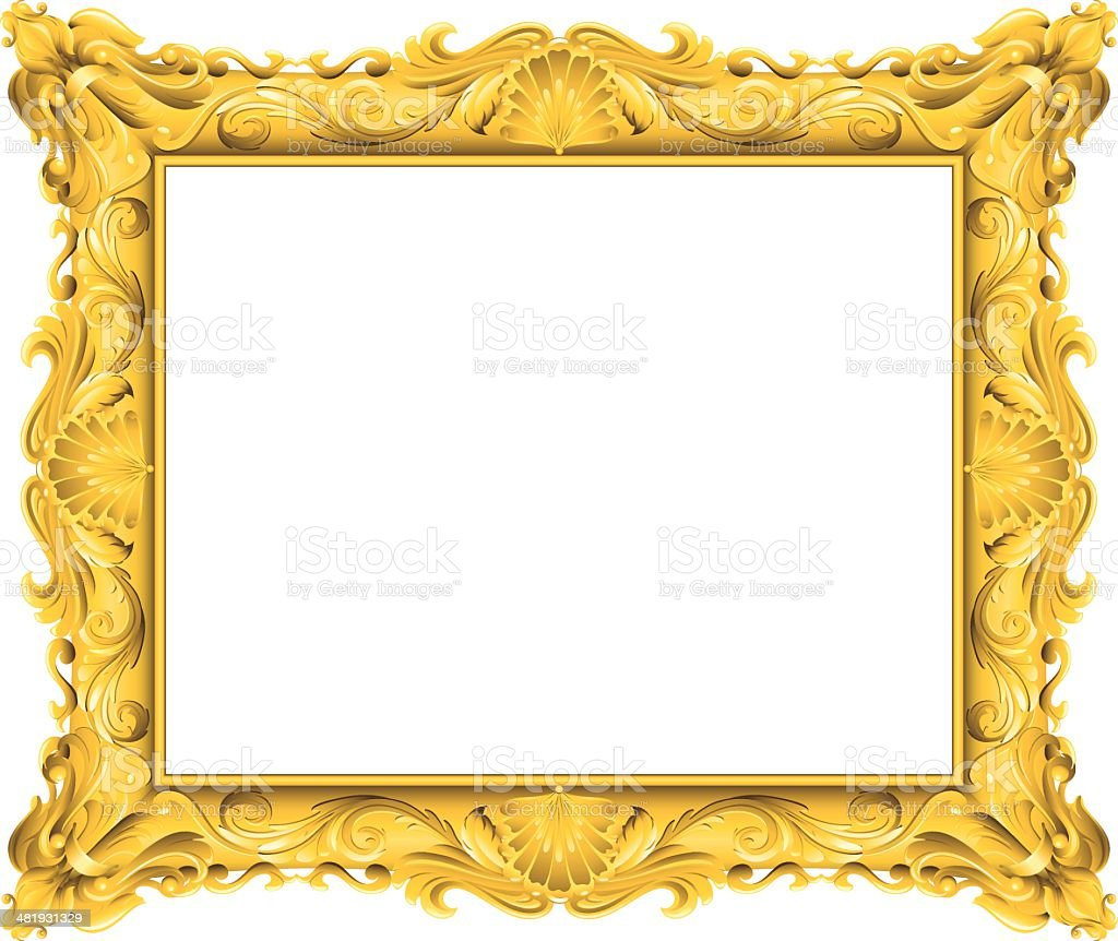 fancy gold frame stock vector art 481931329 istock