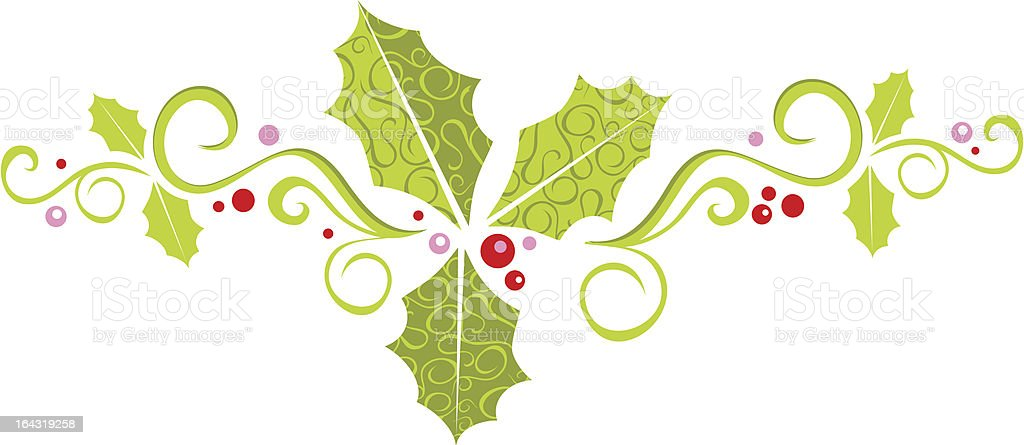 fancy holly banner royalty-free stock vector art