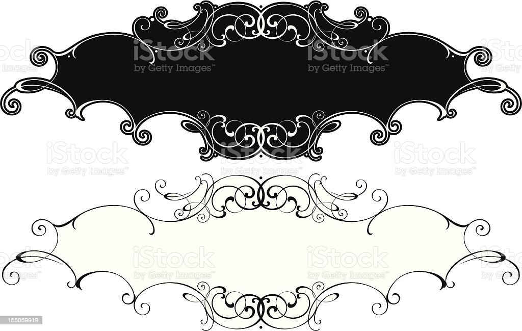 Fancy Lettering Panels royalty-free stock vector art
