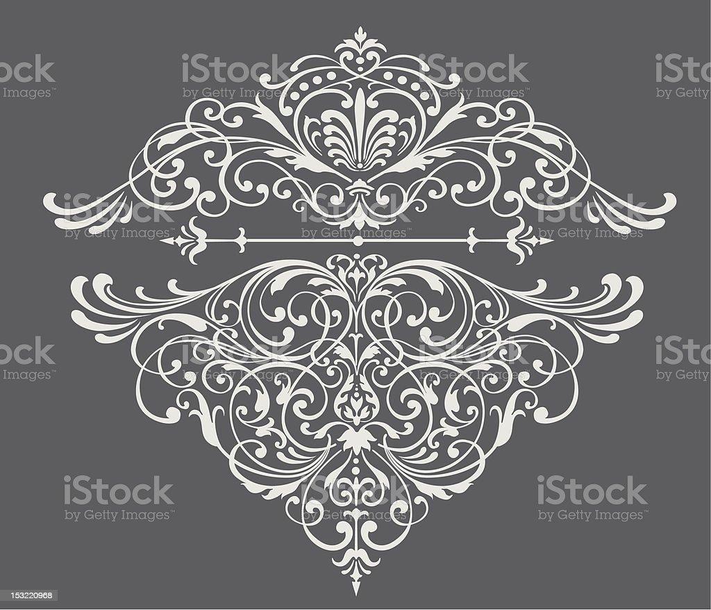Fancy ornate border vector art illustration