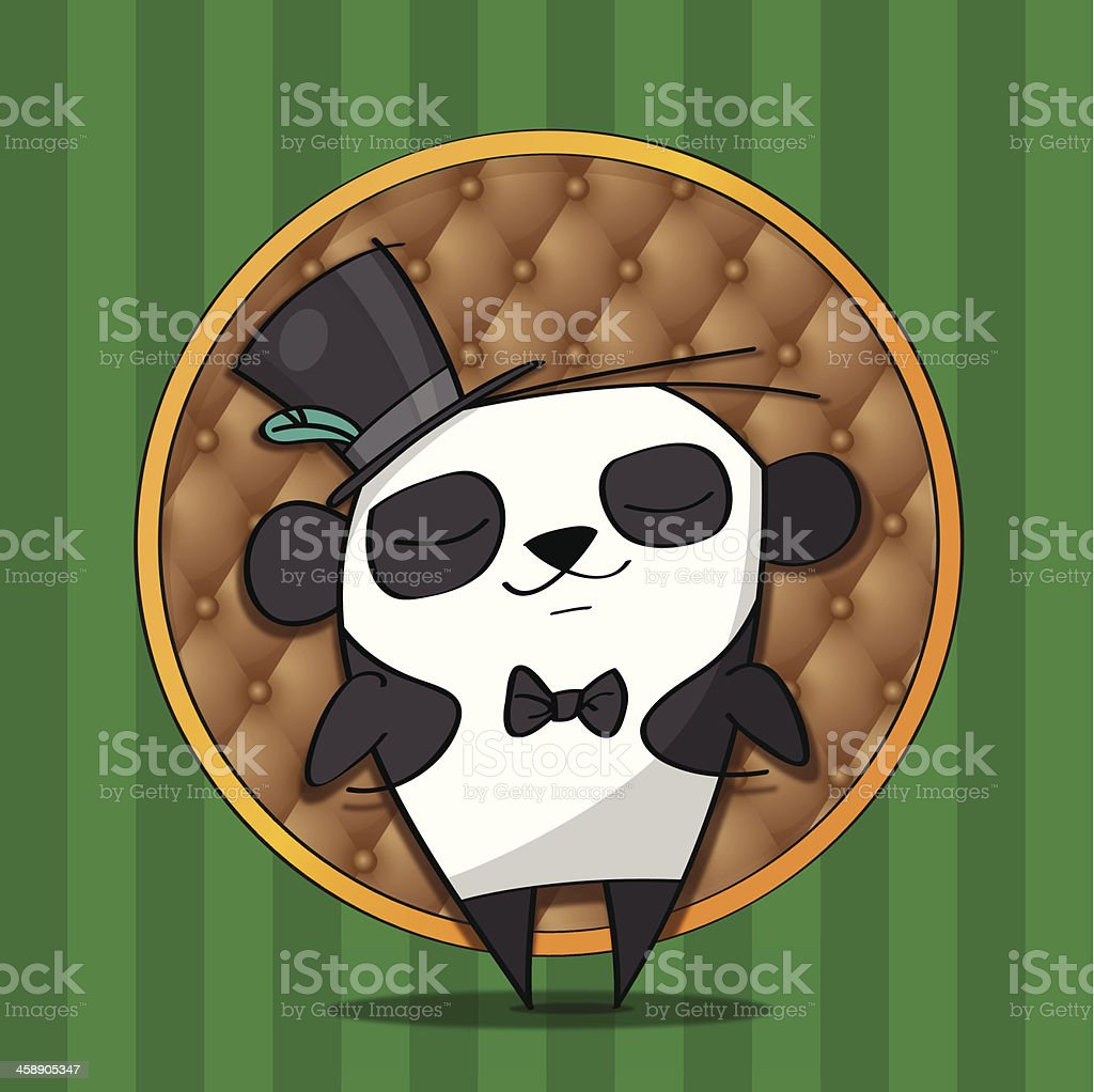 Fancy Panda vector art illustration