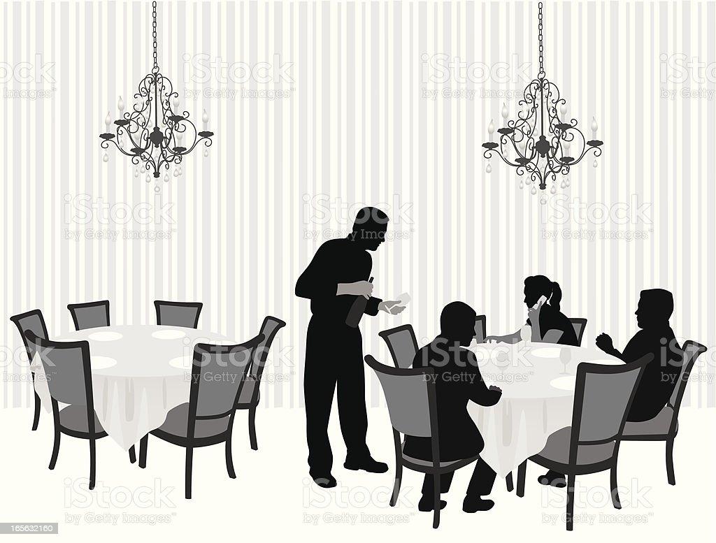 Fancy Restaurant Vector Silhouette royalty-free stock vector art