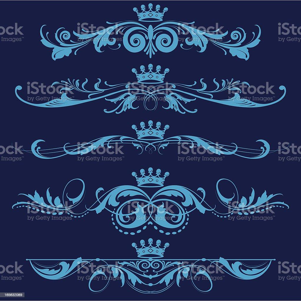 Fancy Royal Elements royalty-free stock vector art