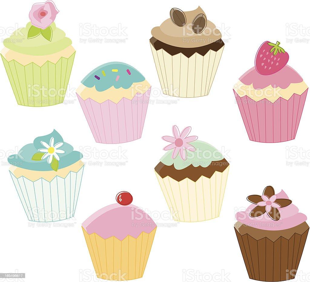 Fancy Sketchy Cupcakes vector art illustration