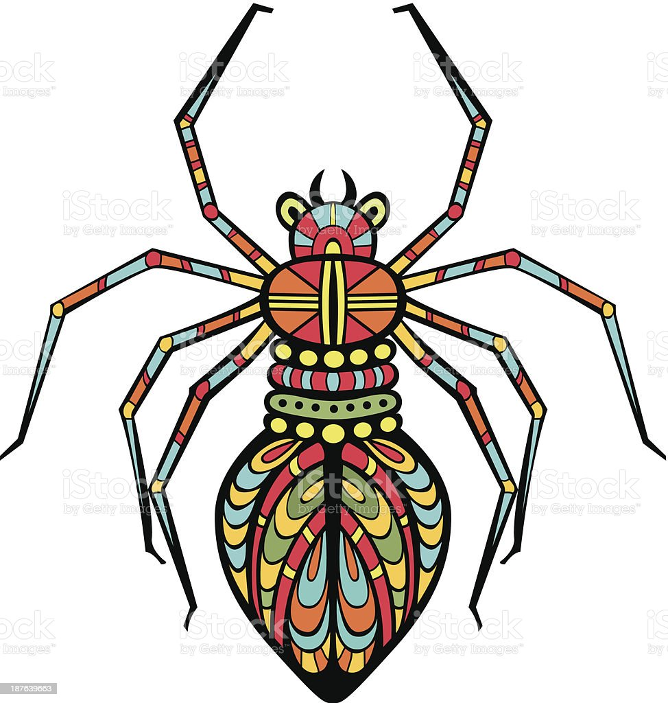 Fancy Spider royalty-free stock vector art