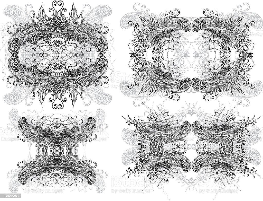 fancy traditionellen Bilder Lizenzfreies vektor illustration
