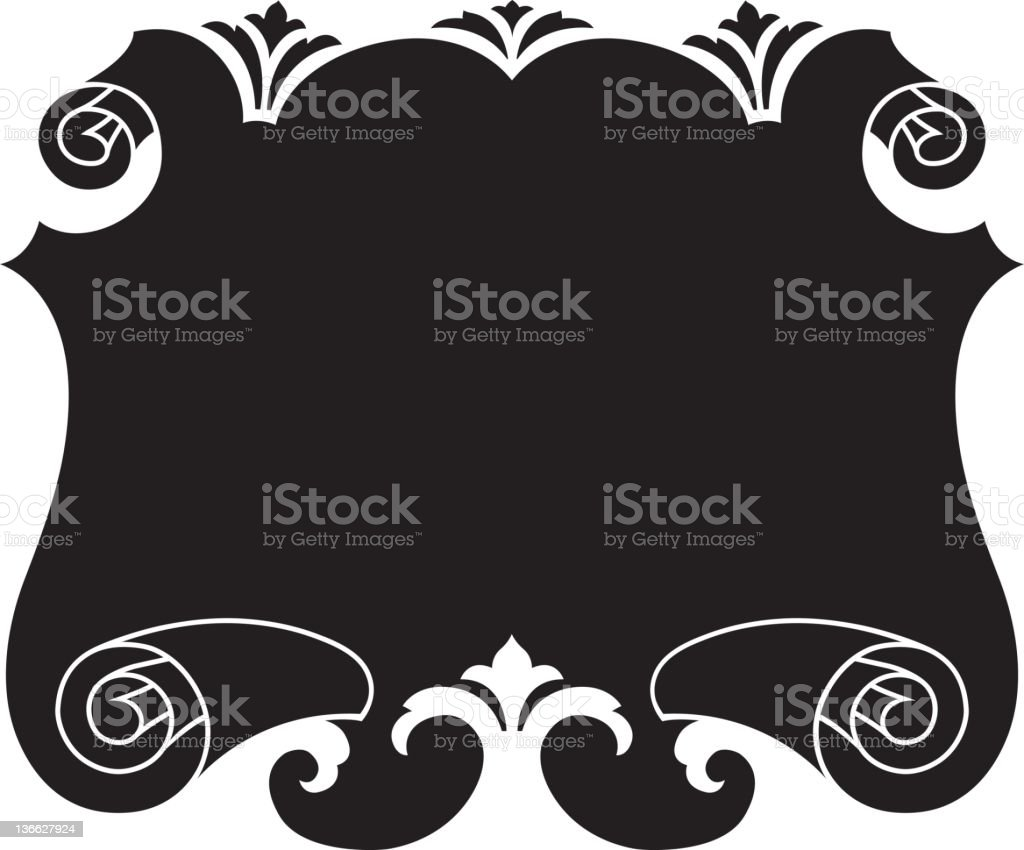 Fancy Vector Scrolled Panel royalty-free stock vector art