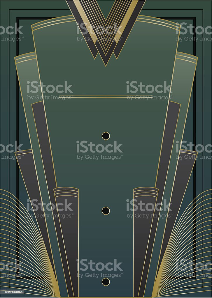 Fans Art Deco Background vector art illustration