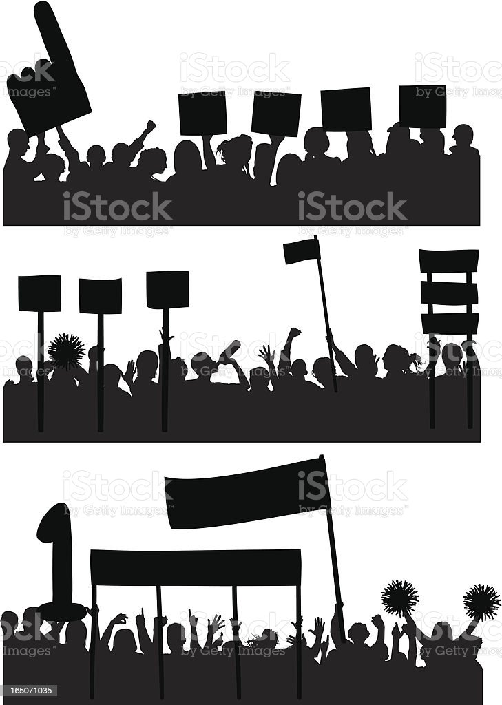 Fans royalty-free stock vector art