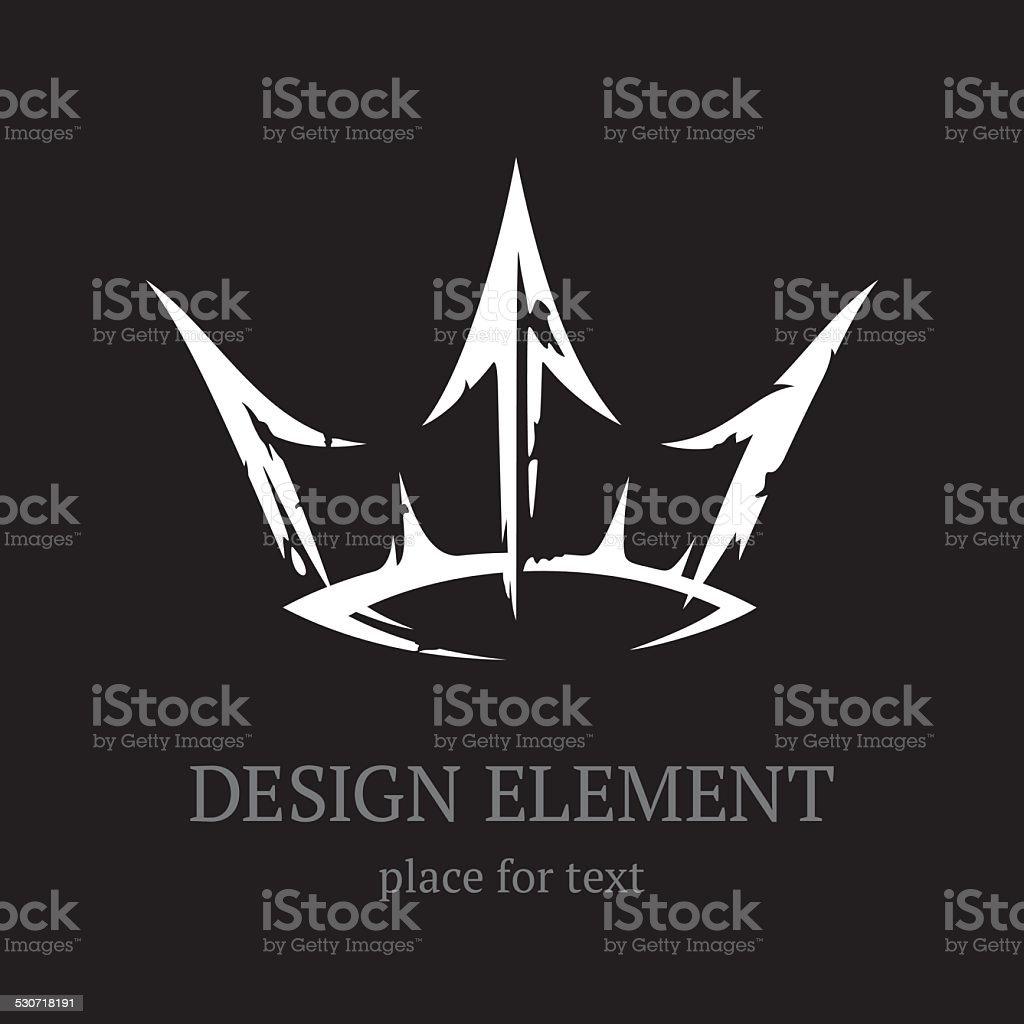 Fantastic crown vector art illustration