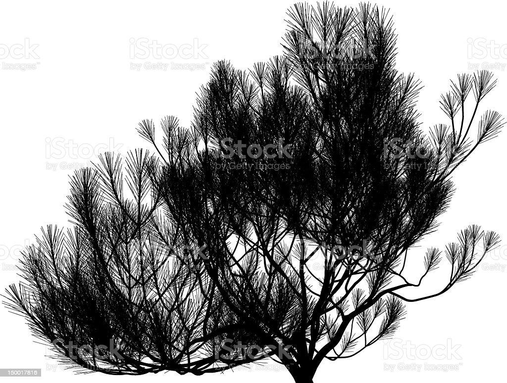 fantastic tree silhouette royalty-free stock vector art