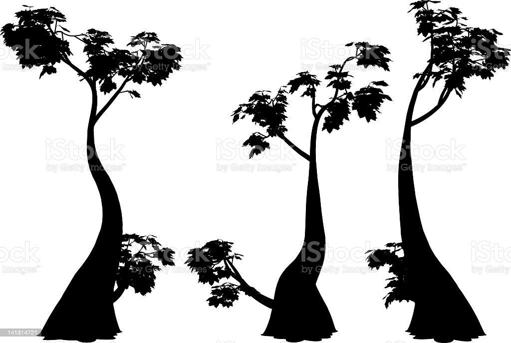 fantastic trees royalty-free stock vector art
