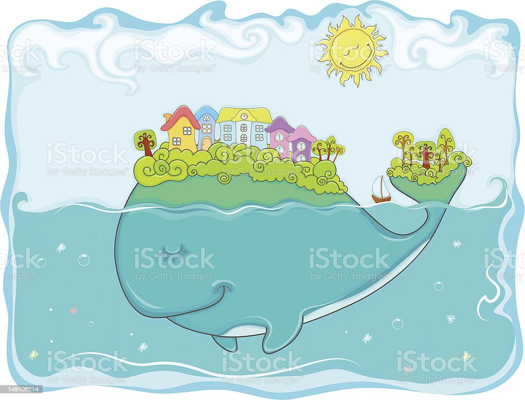 Fantastic whale. royalty-free stock vector art