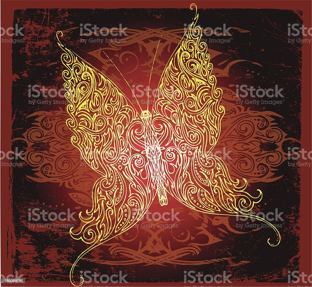 fantasy-Schmetterling Lizenzfreies vektor illustration