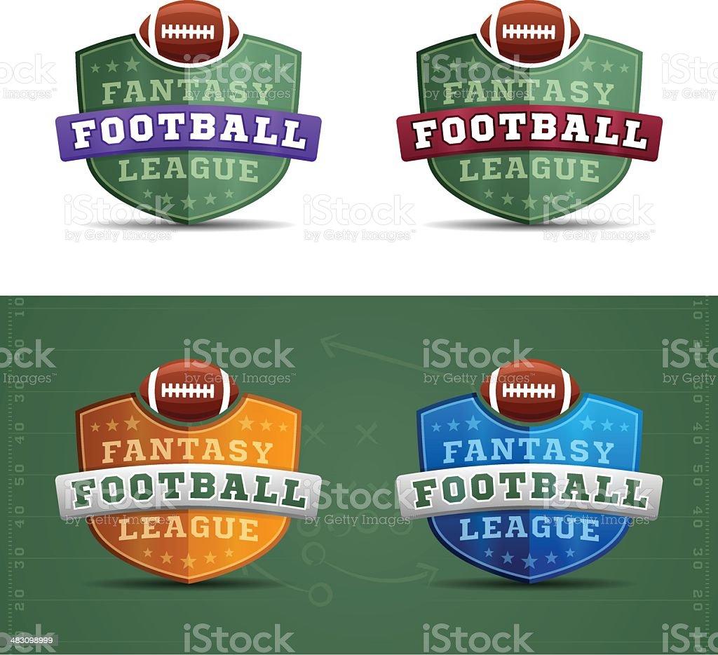 Fantasy Football League Badges vector art illustration