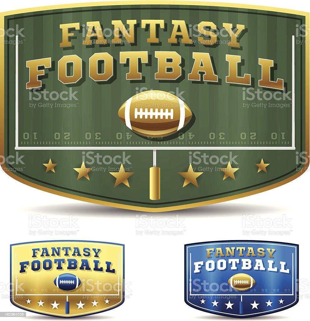 Fantasy Football vector art illustration