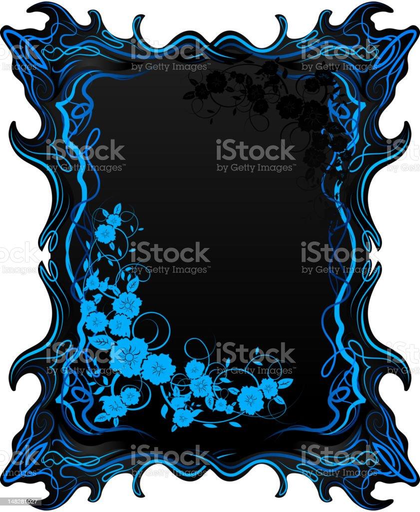 Fantasy frame with floral patterns vector art illustration