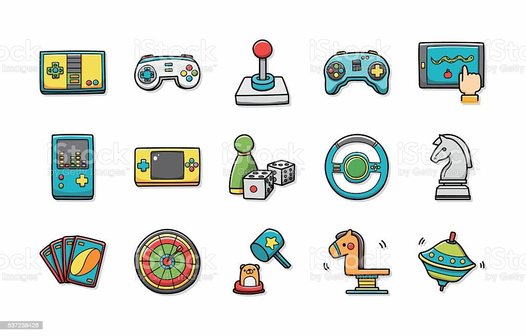 Fantasy game icons set,eps10 vector art illustration