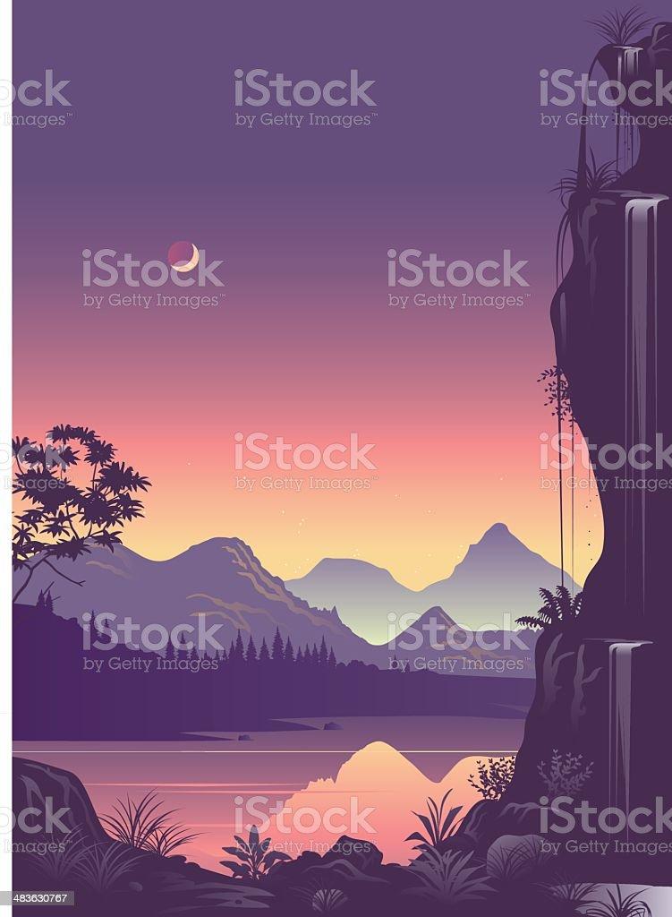 Fantasy land royalty-free stock vector art