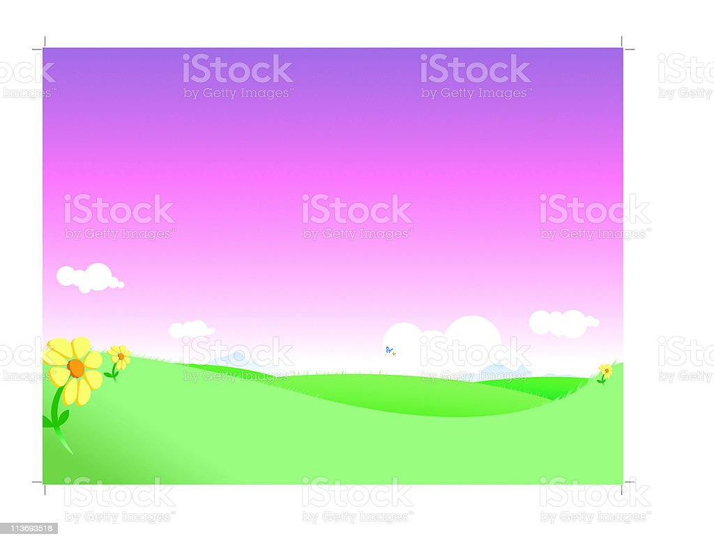 fantasy landscape royalty-free stock vector art
