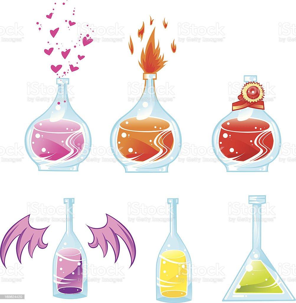 fantasy potions royalty-free stock vector art