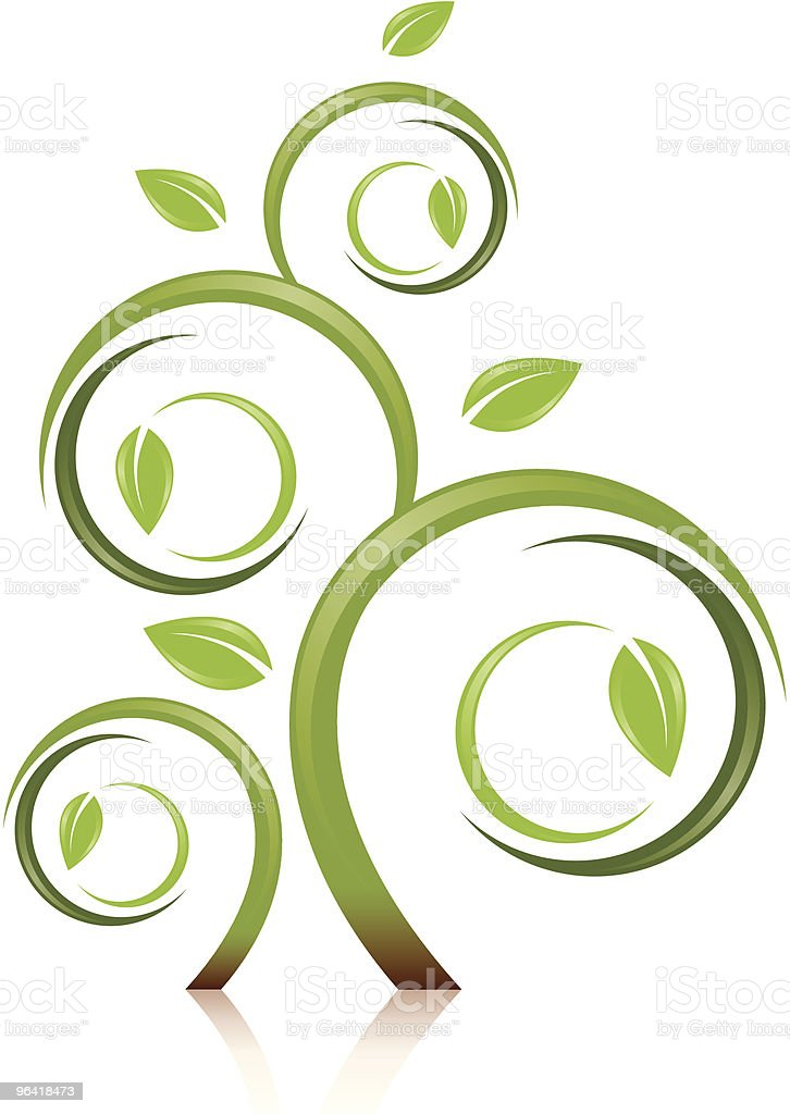 Fantasy Style Tree royalty-free stock vector art