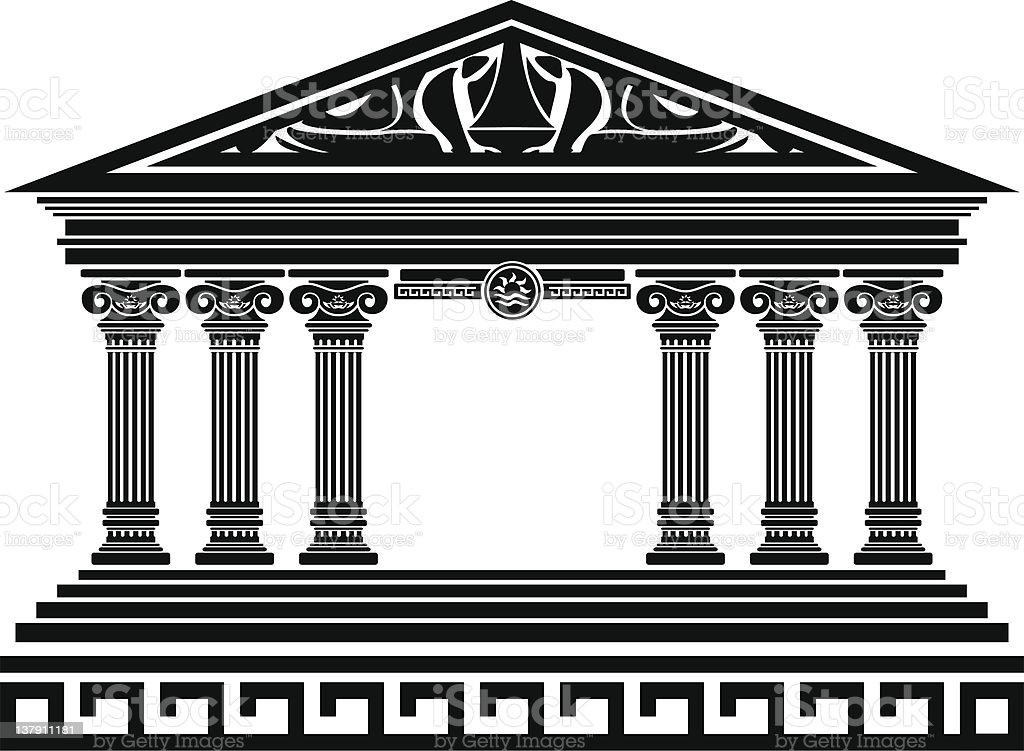 fantasy temple royalty-free stock vector art