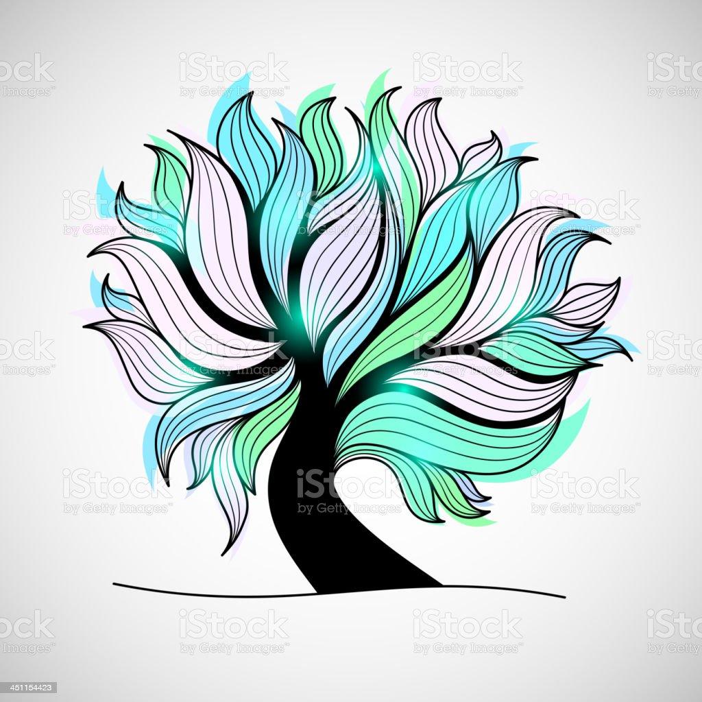 Fantasy tree royalty-free stock vector art