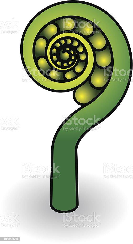 Fern vector art illustration
