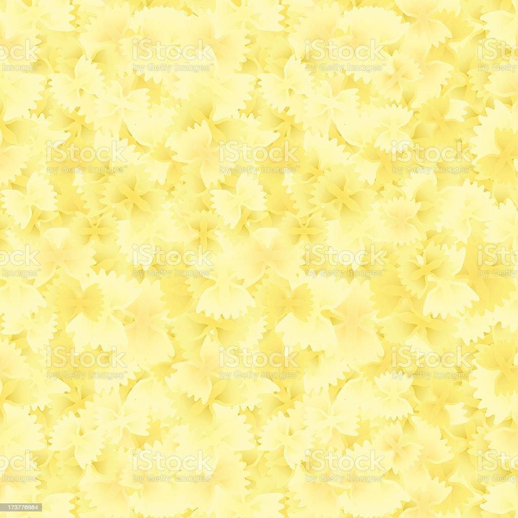Farfalle Macaroni Pasta Background royalty-free stock vector art