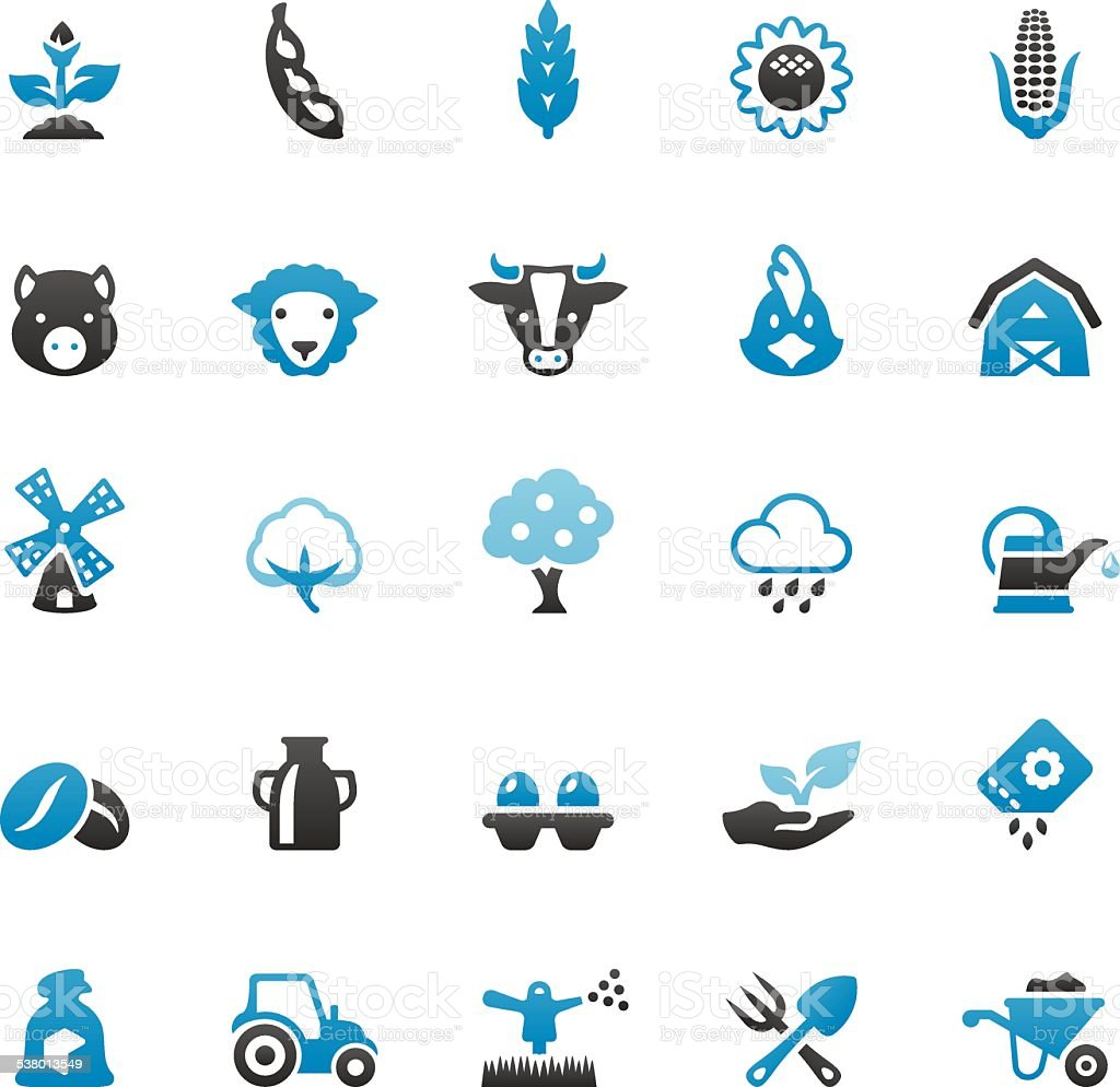 Farm and Agriculture vector art illustration