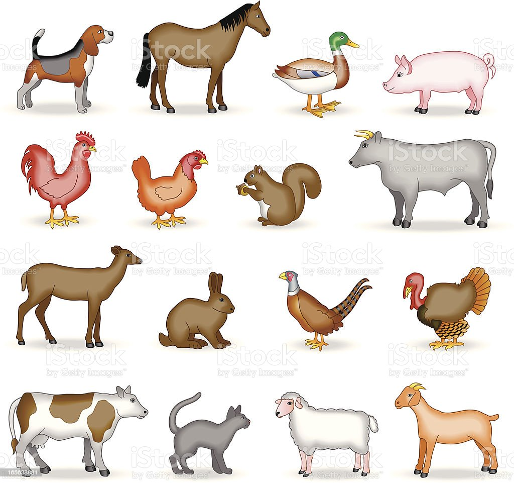 farm and country animals royalty-free stock vector art