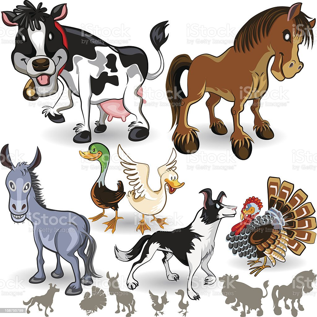 Farm Animals Collection Set 02 royalty-free stock vector art