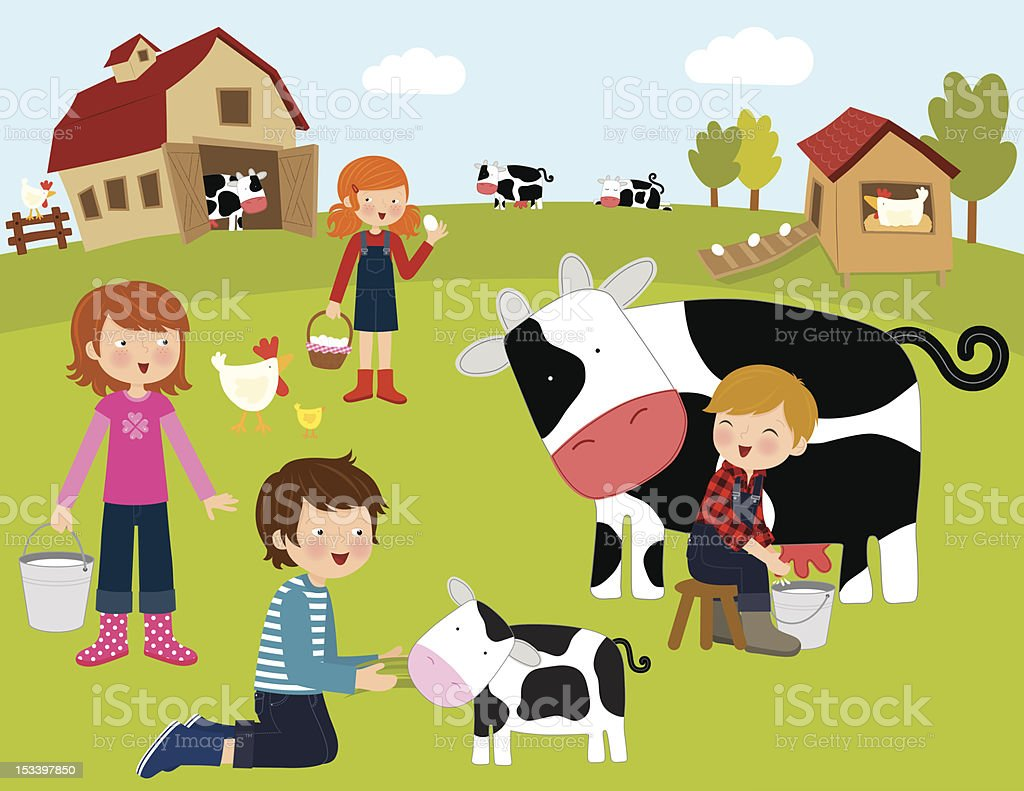 Farm Animals (Series) vector art illustration