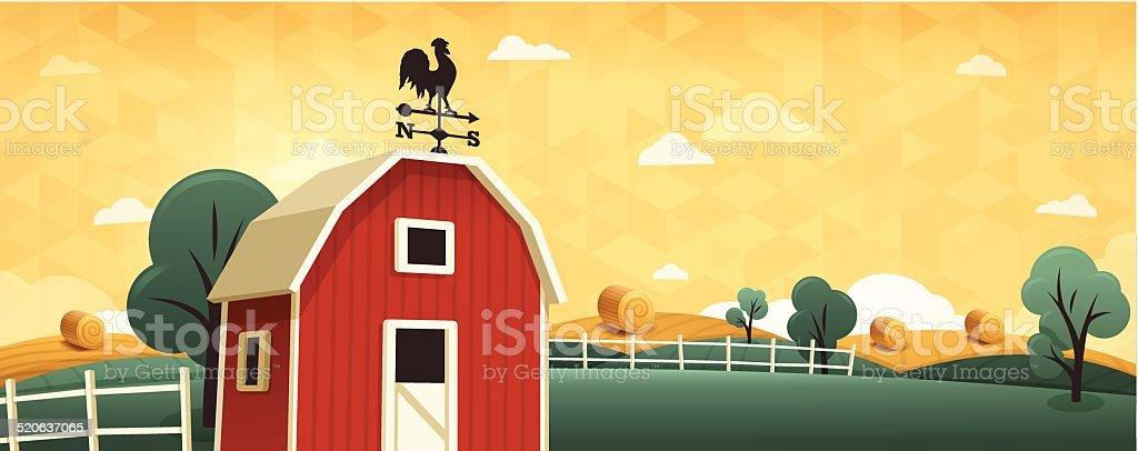 Farm Background vector art illustration