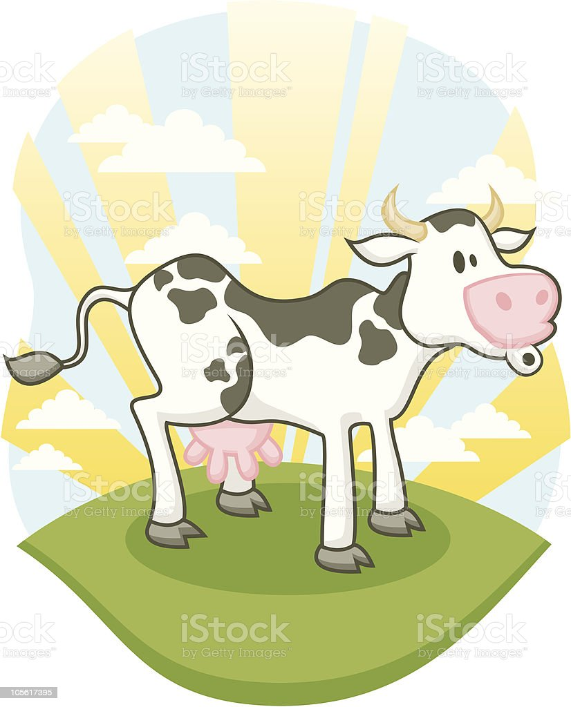 Farm Cow Mooing royalty-free stock vector art
