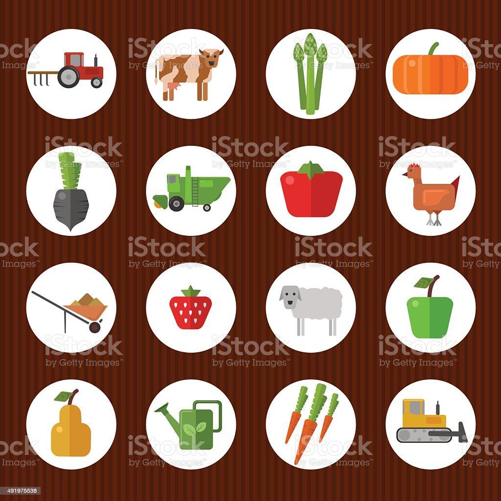 Farm day vector art illustration