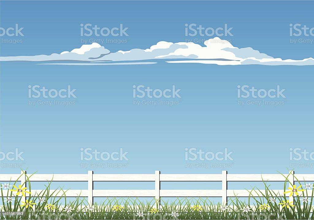 Farm Fence vector art illustration