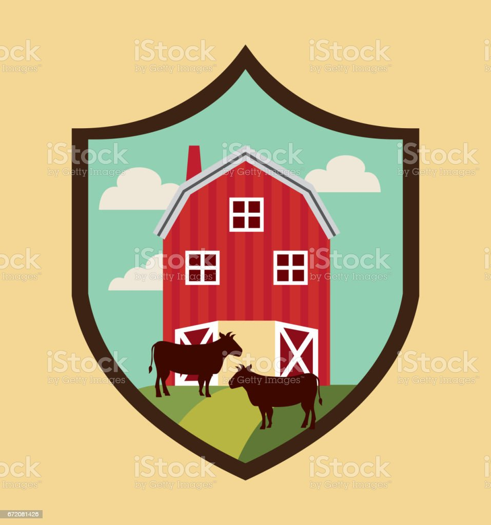 farm fresh emblem icons vector art illustration