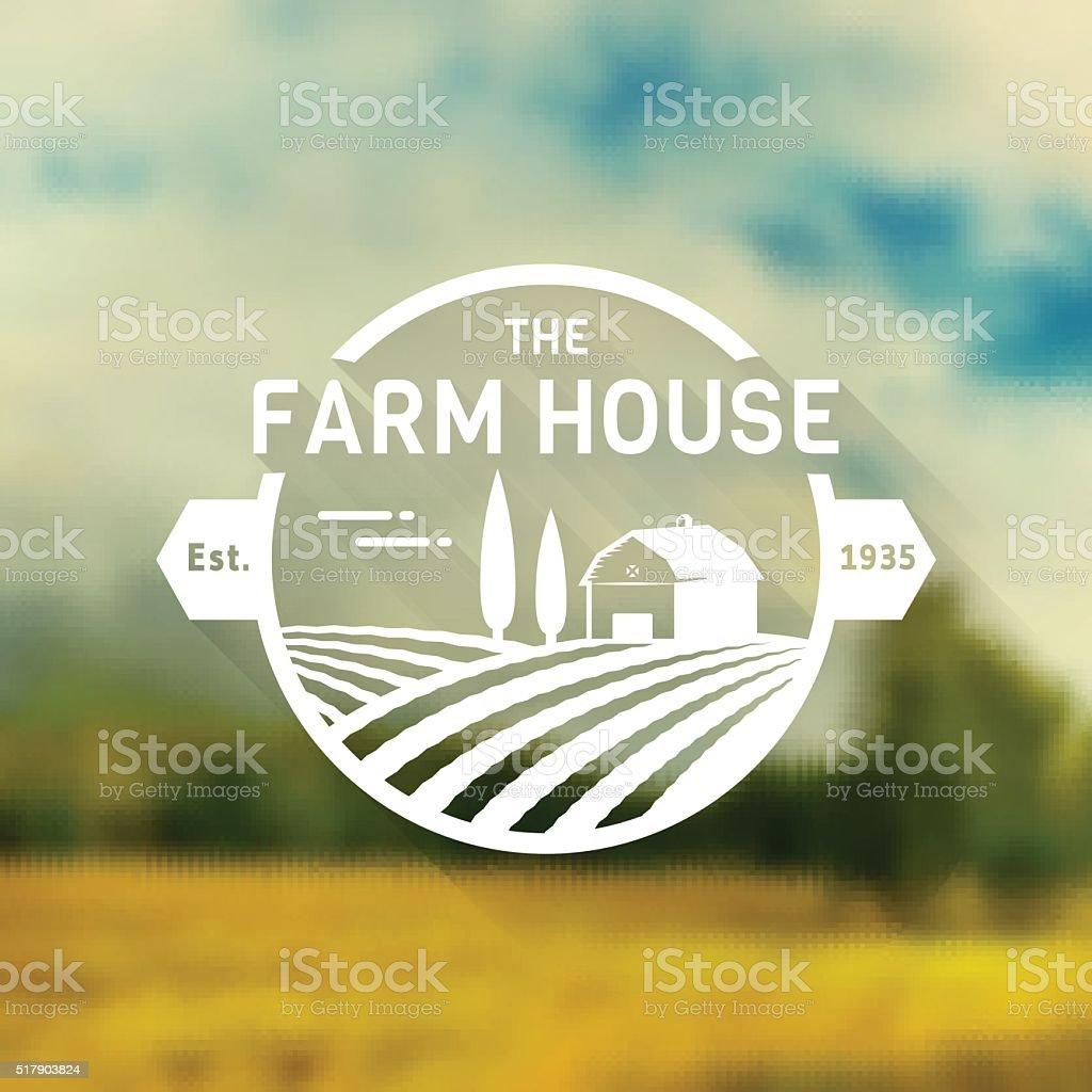 Farm House vector badge. vector art illustration